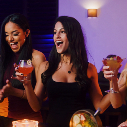 Group of Women holding cocktails