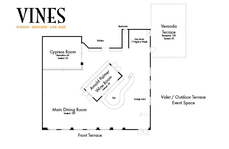 Orlando Corporate Event Venue Floor Plan